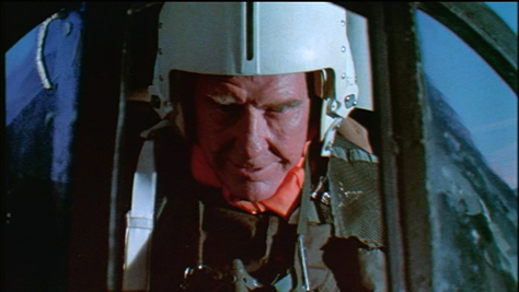 Burgess Meredith, the distinguished character actor who gave life to the everymen of THE TWILIGHT ZONE and that feathery fiend the Penguin on BATMAN somehow found himself humping a plane in this embarrassing chapter of his career. Avert your eyes now.