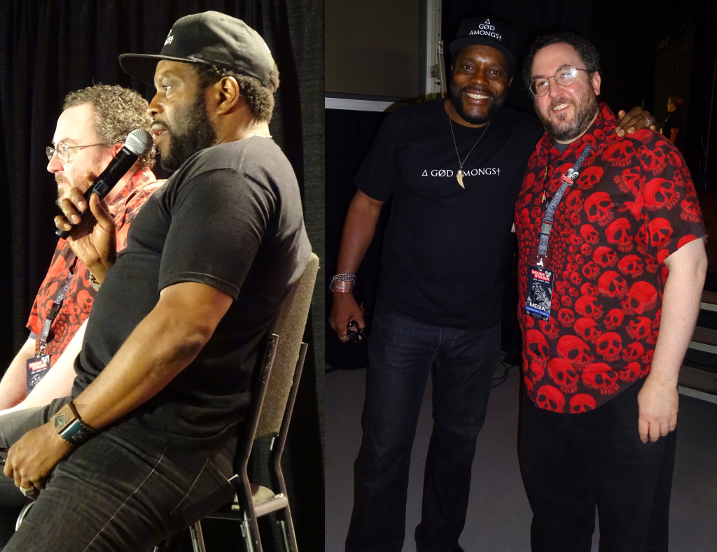 Chad L. Coleman shared some inspirational anecdotes with the Doctor and the Walker Stalker crowd. Photo by Natalie B. Litofsky