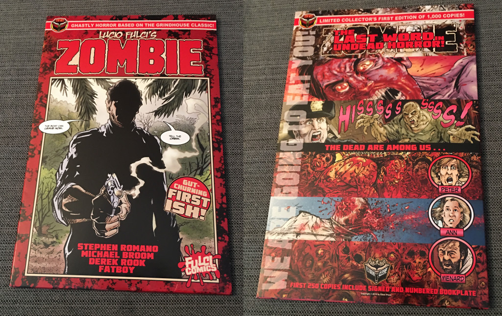 Front and back view of the comic in its sleeve. Photo by Arnold T. Blumberg