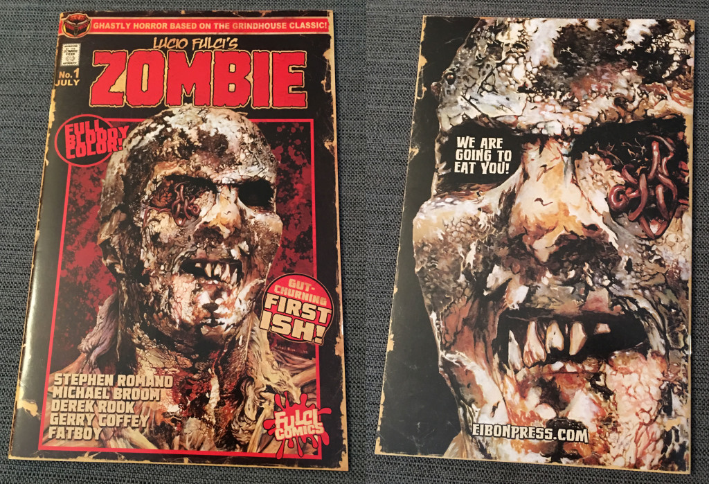 And here it is, the front and back of ZOMBIE #1 itself!  Photo by Arnold T. Blumberg