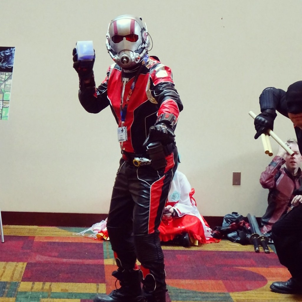 Watch out, it's the astonishing Ant-Man! Or a reasonable facsimile. Photo by Natalie B. Litofsky