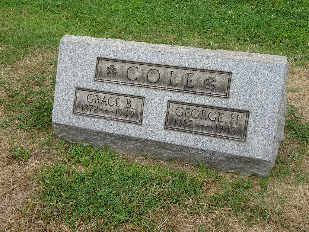 Want to know what Barbra saw when she knelt by her father's grave? Here's the other side, actually the final resting place of Grace B. and George H. Cole. Photo by Natalie B. Litofsky