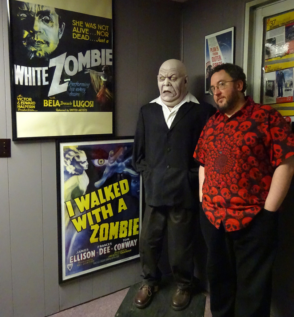 One of my favorite parts of the museum is a long timeline that runs around the perimeter, placing NIGHT and Romero's films in historic context. First up, a look at where zombies began! This guy's a big boy now, Johnny! Photo by Natalie B. Litofsky