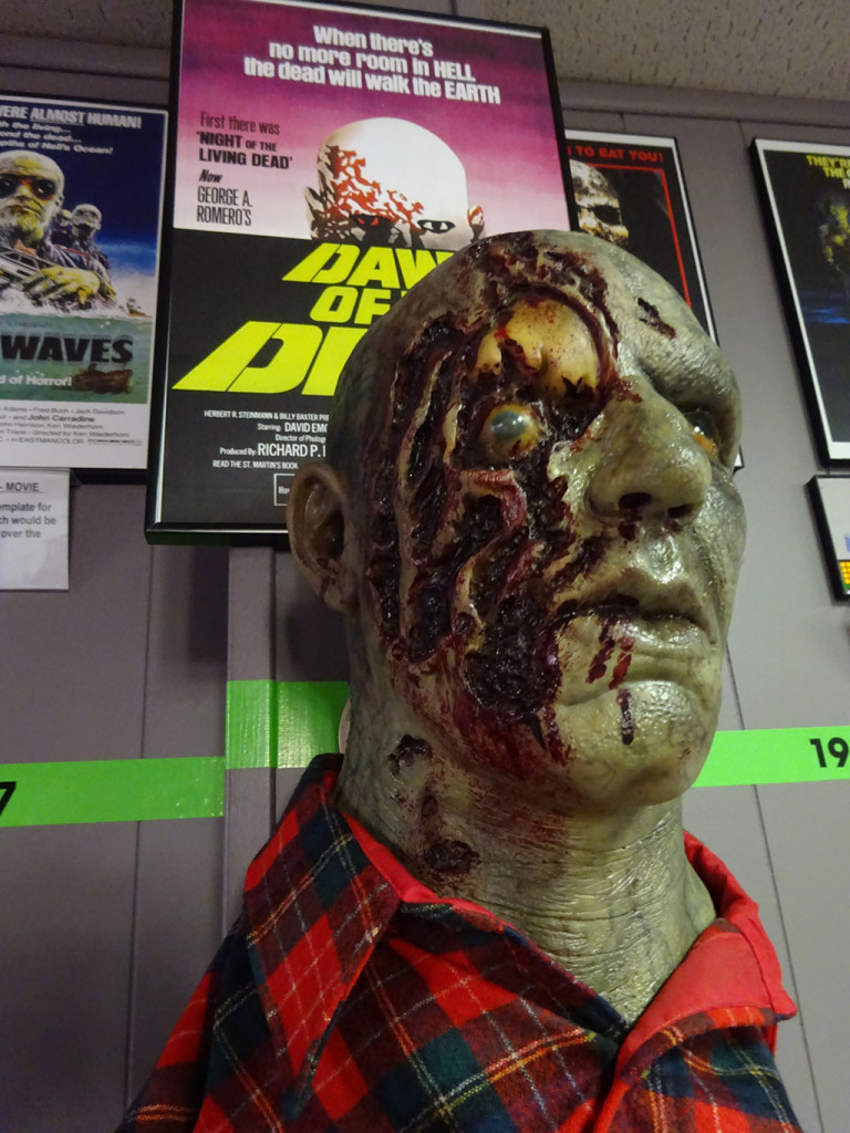 A face only a(n undead) mother could love! The TRUE start of the modern zombie as we know it today starts in that memorable mall... Photo by Natalie B. Litofsky