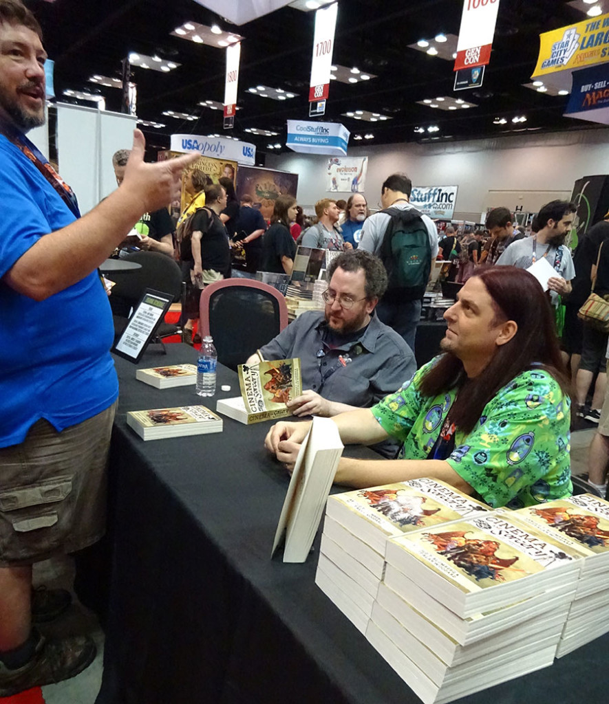 Long-time G2V and DOCTOR OF THE DEAD supporter Bryan Spellman showed up to get a signed CINEMA AND SORCERY! Photo by Natalie B. Litofsky