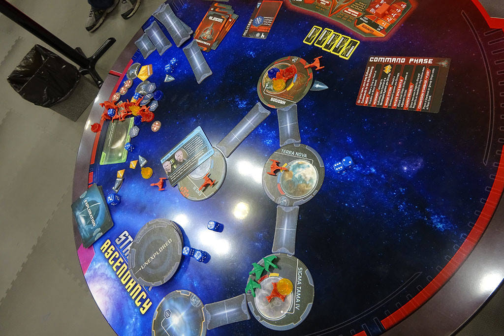 There were so many 50th anniversary STAR TREK games, here's just a glimpse of one of them! Photo by Natalie B. Litofsky
