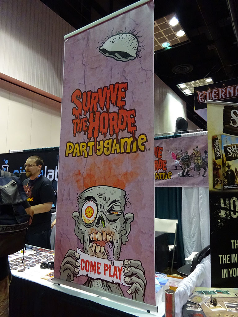 The Survive the Horde table display. Photo by Natalie B. Litofsky