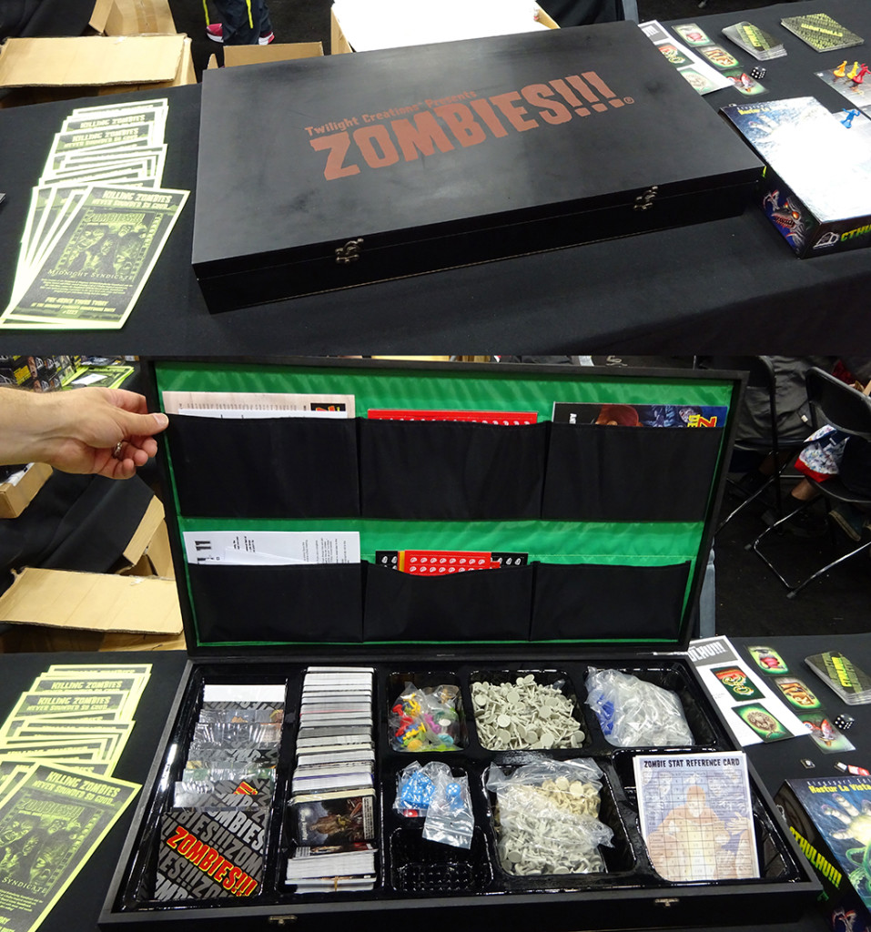 A look at the huge Twilight Creations ZOMBIES!!! game case full o' fun!  Photo by Natalie B. Litofsky