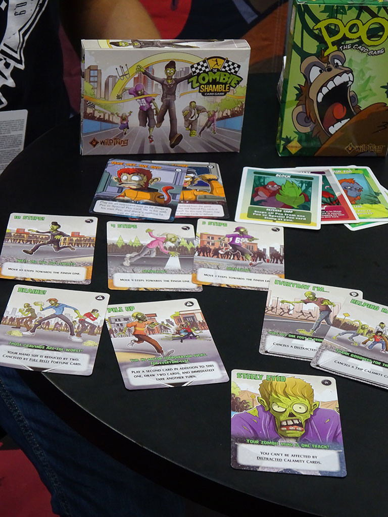 Another zombie card game, sitting alongside a game that looks equally intriguing. Photo by Natalie B. Litofsky