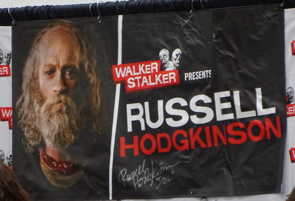 Russell signed his banner; what a collectible! Photo by Natalie B. Litofsky