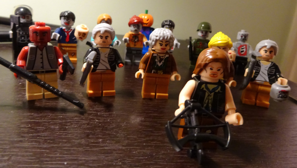 So I mentioned LEGO minifigs. I bought a group of custom zombies and zombie fighters, including takes on WALKING DEAD characters like Carol, Andrea...and Daryl! Photo by Natalie B. Litofsky