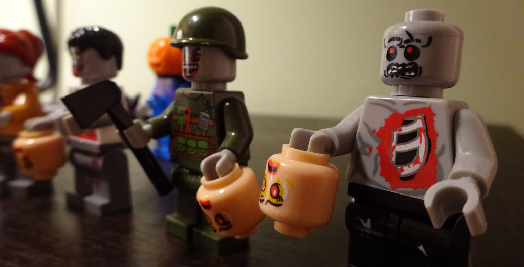 With ribs exposed, this LEGO minifig is a macabre image in plastic. Photo by Natalie B. Litofsky
